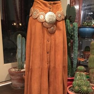 Ann Taylor Maxi Suede Skirt
